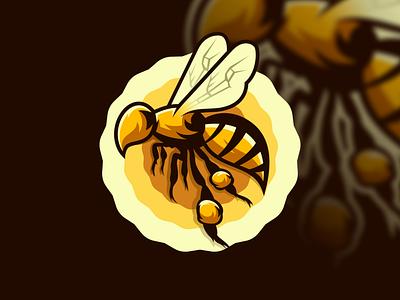 bee logo design animation design art illustration vector sketch design ilustration coreldraw ilustrator logo