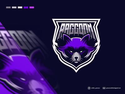 raccoon logo design animation branding design art vector sketch design ilustration coreldraw ilustrator logo