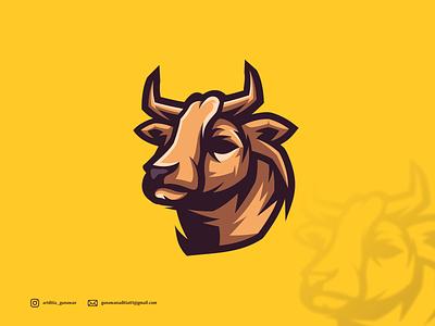 BULL LOGO branding ui illustration vector sketch design ilustration coreldraw ilustrator logo
