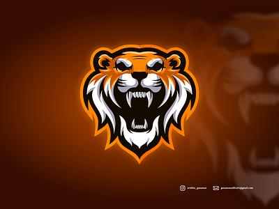 Tiger logo tiger branding ui illustration vector sketch design ilustration coreldraw ilustrator logo