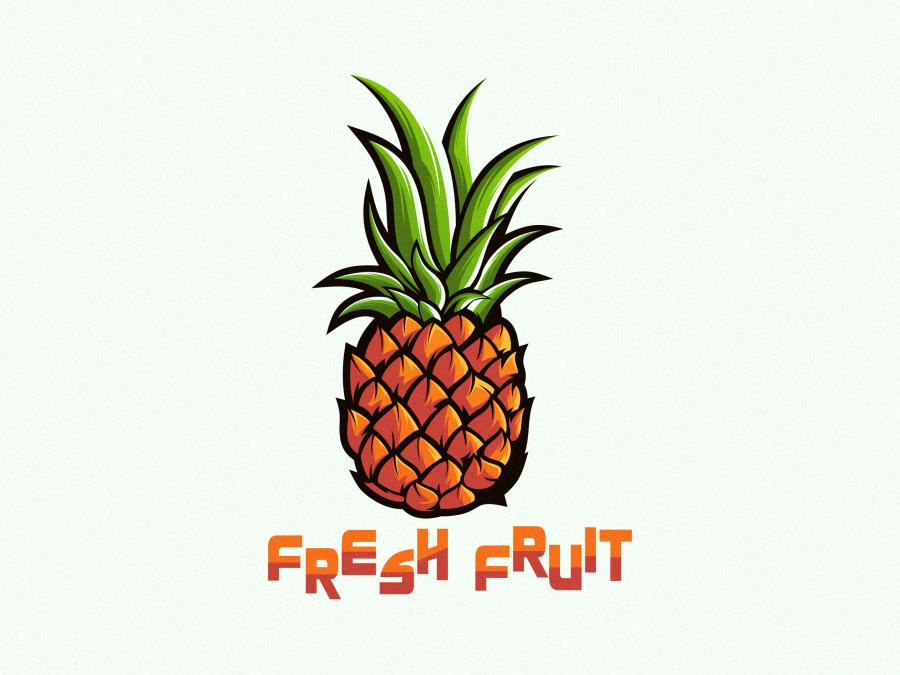 pineapple branding vector typography icon app animation illustration design art sketch design ilustration coreldraw ilustrator logo