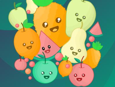 Fruit Doodle fruit gravit designer illustration