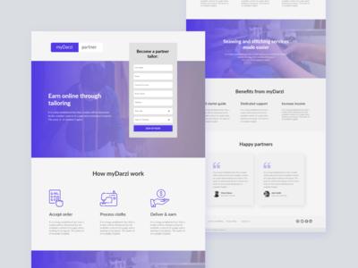 myDarzi Partner Landing Page