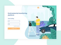 Environment monitoring login platform