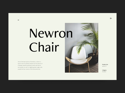 chair e-commerce visual ux ui shop minimal header graphic typography design clean
