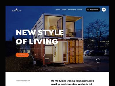 Cube prototype prototype web branding design typography header ux ui minimal