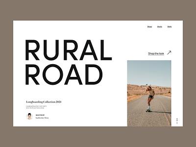 longboarding shop webdesign skateboard branding clean typography design web header ux ui minimal
