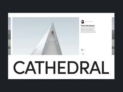 Cathedral design grid layout grid architecture clean white branding typography design web header ux ui minimal