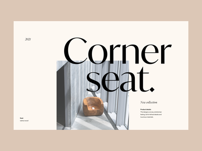 Webshop seat shop branding clean ui header web design typography ux minimal