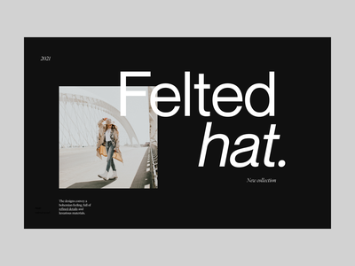 fleted hat shop visual branding clean design web header minimal ux ui typography shop