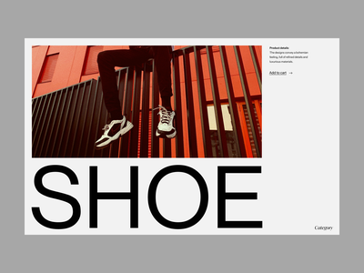 Shop shoe fashion design fashion shop branding typography web header ux ui minimal clean