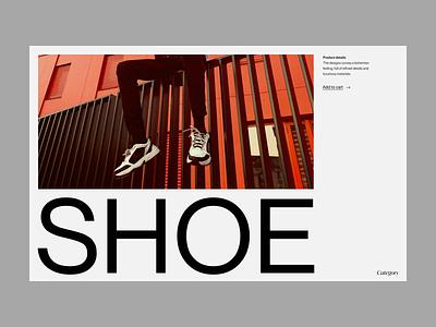Shop shoe fashion design fashion shop branding typography web header ux ui minimal clean