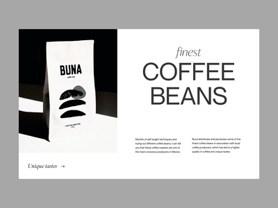 coffee beans shop visual branding typography design web header ux ui minimal