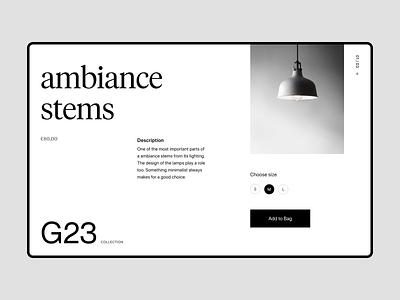 Light store webdesign visual branding shop typography design web header ux ui minimal