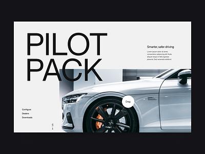 Car electric website visual webdesign branding car typography web header ux ui minimal