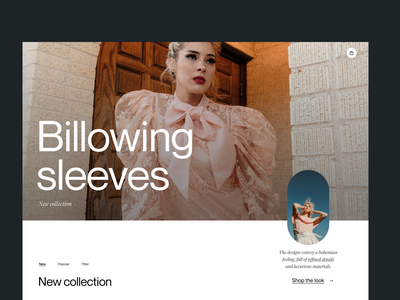 Fashion shop webdesign shop branding clean typography design header ux ui minimal