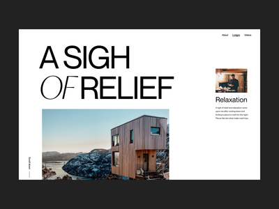 Tiny house website webdesign house branding clean typography design web header ux ui minimal