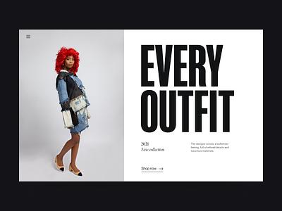 Fashion shop visual white website grid webdesign clean fashion shop branding header typography design web ux ui minimal