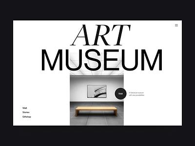 Art museum webdesign museum branding clean typography design web header ux ui minimal