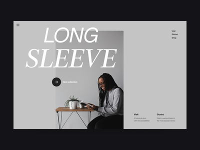 Fashion sleeve store grid webshop webdesign clean website fashion shop visual branding typography design web header ux ui minimal