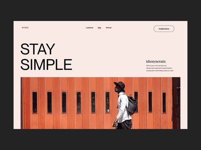Stay simple fashion store webdesign website shop branding typography design web header ux ui minimal