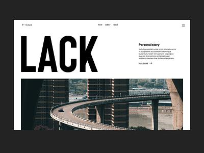 Lack webdesign website blog branding typography design web header ux ui minimal