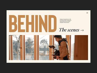Behind blog webdesign website camera branding typography design web header ux ui minimal