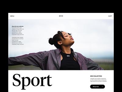 Sport cool - header webshop fashion branding typography design web header ux ui minimal