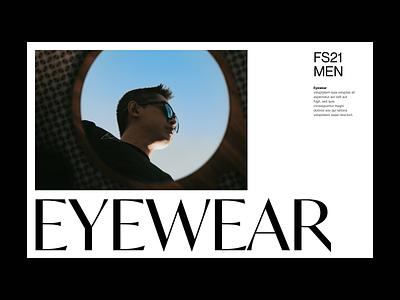 Eyewear shop store webshop fashion branding typography design web header ux ui minimal