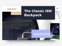 Backpack shop header