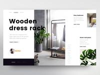 Wooden dress rack