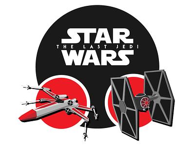 Star Wars Vector Artwork minimal flat fighter tie xwing jedi last the wars star artwork vector