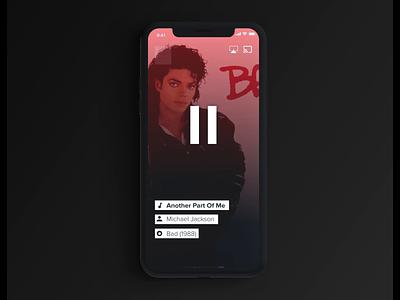 Radio App Design ios player music radio ux ui invisionstudio app animation motion gradient flat minimal