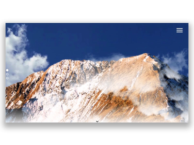 Mountain Peak Presentation website minimal invisionstudio landing page showcase typography ux ui design motion mountain