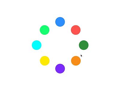 Color Palette + InVision Studio minimal madewithstudio invisionstudio ui animation motion flat