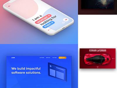 2 0 1 8 netflix red 2018 top4shots blue ui ux landing page illustration flat minimal