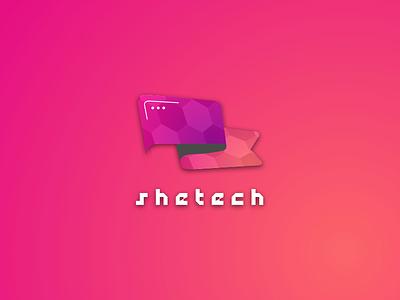 SheTech Logo Branding brand identity women technology no-profit logo identity branding