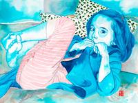 Watercolor Portait - Blue era