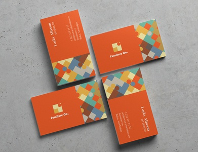 Business Card for Furniture Co business card design orange businesscard