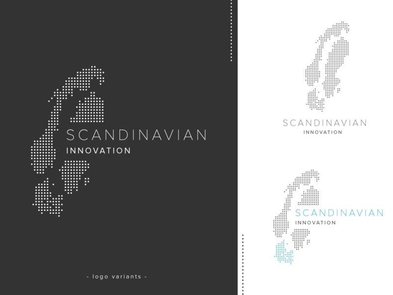 Logo design - Scandinavian innovation minimal minimalistic black and white gray startup logo scandinavia logo branding dotted logo design