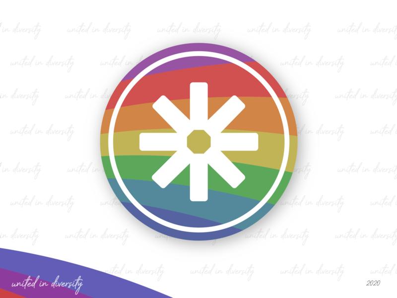 Profile icon redesign minimalistic logo minimalistic star diversity unity facebook colorful pride profile icon