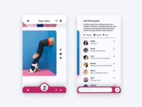Social media comment section - Daily UI challenge