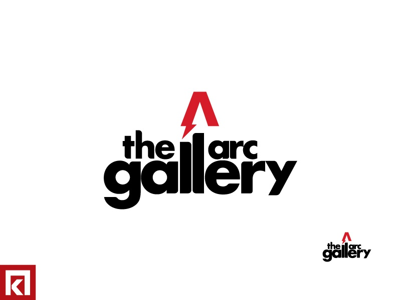 The Arc Gallery art design typography icon logo