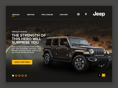 Jeep website revamp