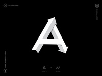 Letter A Logo Design logos idea inspiration inspirations logotypes logotype a initial alpahbate arrows arrow minimal logo design mark designer design logo designer branding logo