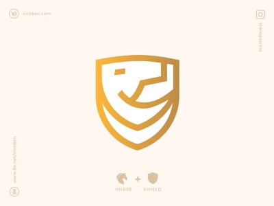 Horse Shield new simple icons emblem head symbol minimal logo designer icon logo design designer outline geometric animal design branding logo horse secure protect