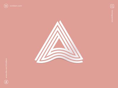 A logo design logo designer branding logo mark v triangle clean elegant icon geometric abstract type letter a