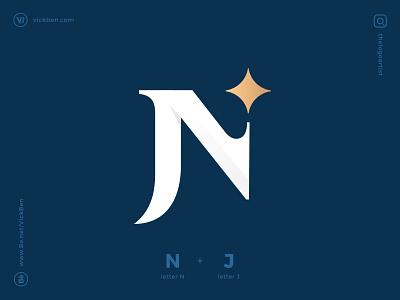 NJ/JN designer logo design branding geometric new modern elegant logo for sale logo designer letters lettermark logos nj jn monogram initial logo n j letter