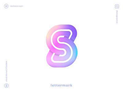 S logo designer designer mark minimal simple clean branding logo for sales logo design geometric creative colorful type initial letter design logo s