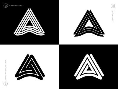 Letter A Logos logotype type exploration minimal logo design brandmark designer logo designer one color black and white logos logo bold geometric monogram alphabet a letter initial